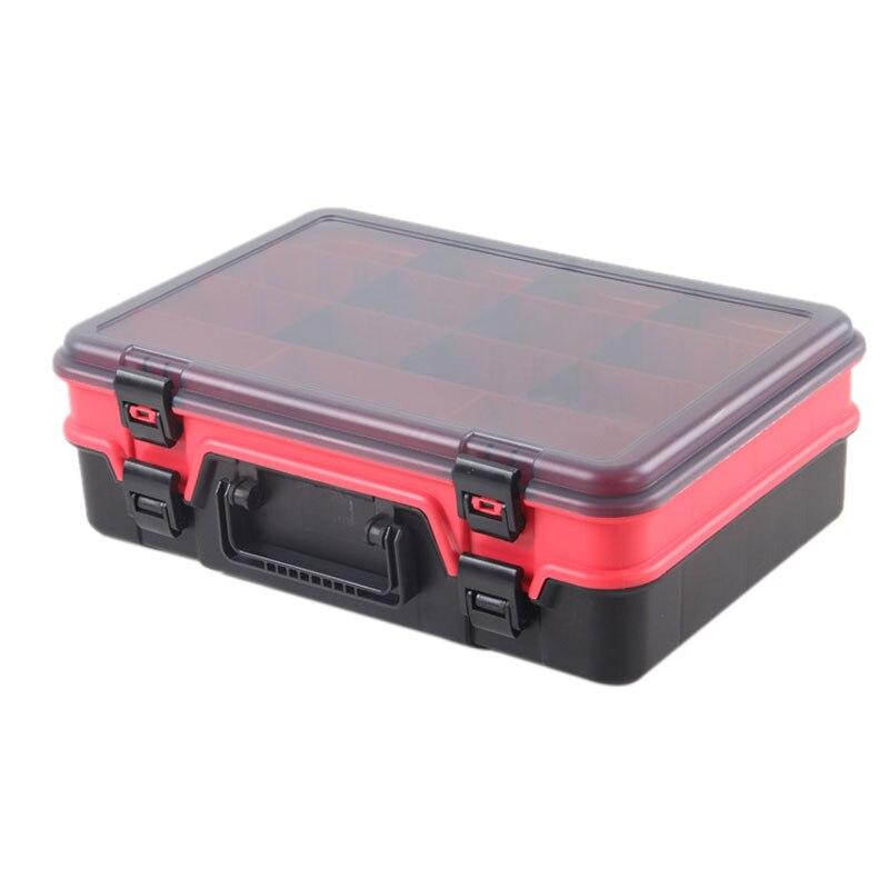 Boîte de pêche en plastique dur à Double couche pour appâts ou leurres boîte de pêche accessoires de pêche mouche/basse/carpe