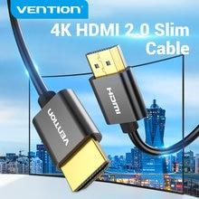 Convenio HDMI 2,0 Cable Ultra 4K de corte Slim HDMI 2,0 Cable divisor para PS4/3 proyector HDTV X-caja de interruptor de Nintendo 3D Slim Cable HDMI