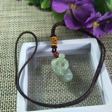 Jade Pendant Natural Jewelry Safety-Amulet Lucky-Exorcise Evil Cattle Auspicious Spirits