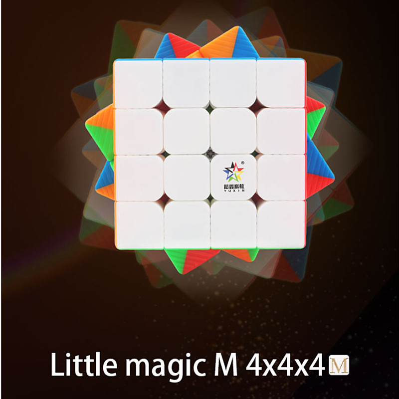 Yuxin Little Magic M 4x4x4 Magnetic Speed Cube Yuxin Magnetic 4x4 Puzzle Magic Cubo Zhisheng 4x4 Magnetic Magic Cube Kid Toys