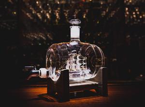 Image 5 - 1000ml Creative ימי חבית צורת האדום יין ויסקי זכוכית בקבוק יין לגין בר מטבח מסיבת חג המולד מתנה