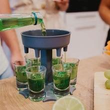 Bar Shot-Dispenser Drinking-Tools Cocktail 6-Shot Carrier Holder-Set Liquor Party-Games