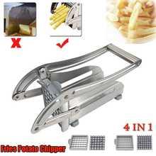 Machine de découpe coupe frites meilleur rapport qualité/prix acier inoxydable n'utilise pas maison trancheuse de pommes de terre concombre avec 2 lames