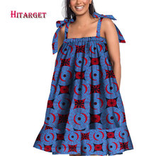 Hitarget African Ankara Women Print off Shoulder Fringe Dress Clothing Fashion Dresses for WY4831