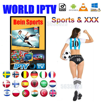 USD 1.00 off coupon for IPTV M3U subscription French UK USA code IPTV adult vod Belgium Netherlands France Portugal Greece Germany italy for Android box