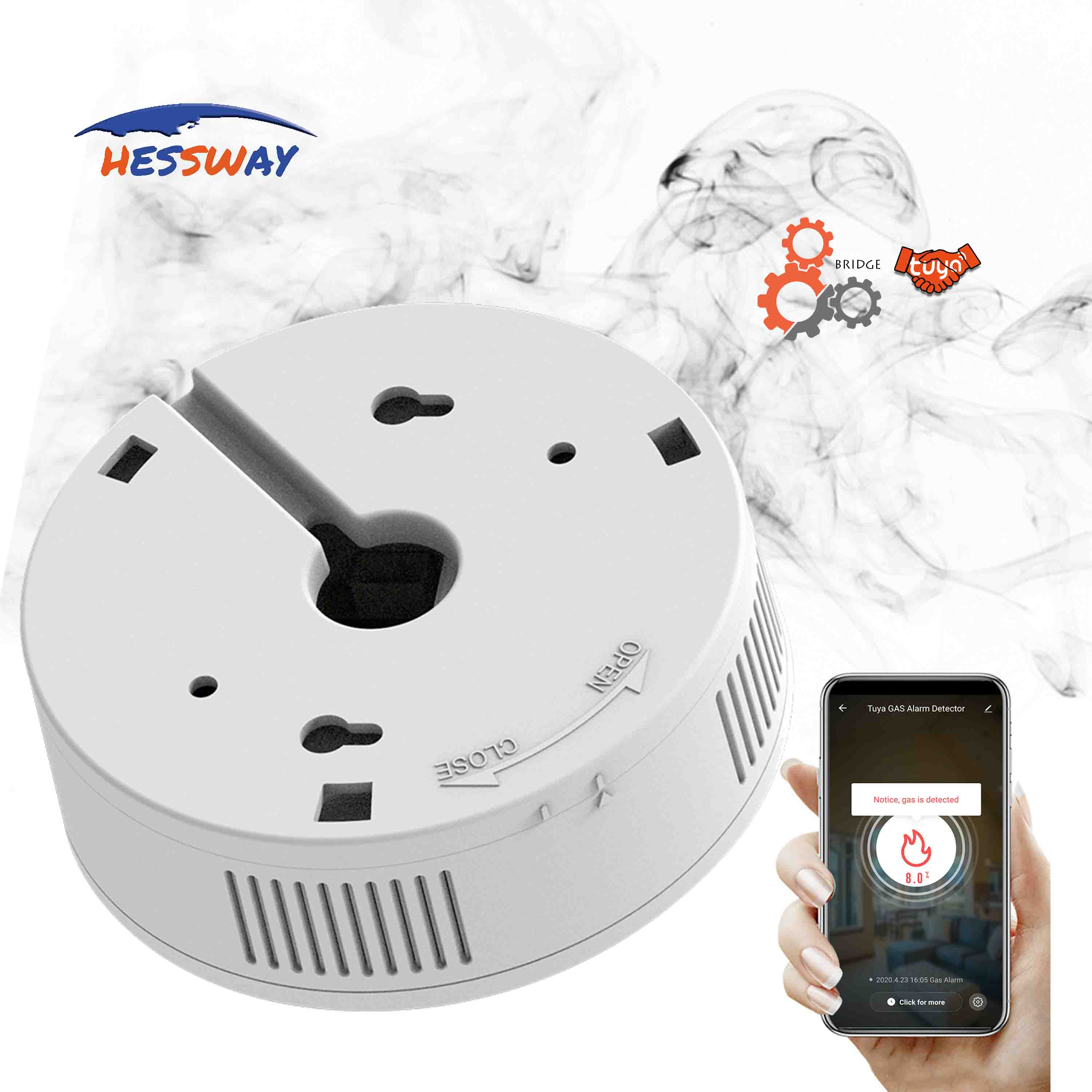 Top SaleÉGas-Detector Alarm Natural for Concentration 8%Leakage 80db Safety-Valve Switching 5V