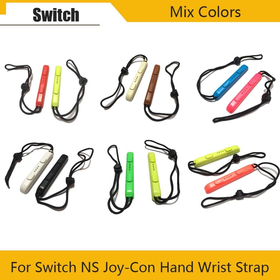 1Pair Switch Joy-Con Mix Color Wrist Strap Sling For Nintend Switch NS NX Console Joy-Con Wrist Wraps Band Strips