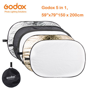 """GODOX 59""""x79"""" 150 x 200cm 5 in 1 Portable Collapsible Light Round Photography Reflector shooting light reflector for Studio"""