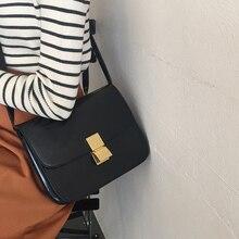 Vintage kadınlar omuz çantaları tasarımcı şık Flap çapraz vücut kadın çantası lüks Pu deri postacı çantası moda bayan küçük çantalar