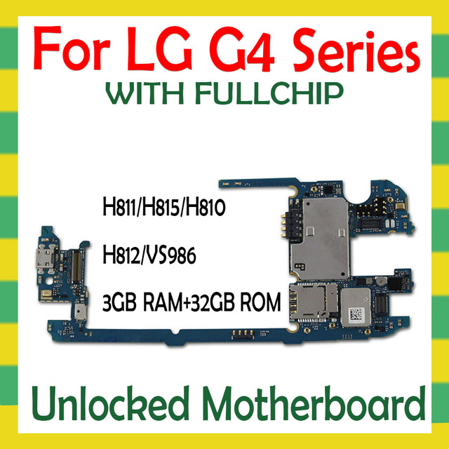 For LG G4 H815 H810 H812 H811 H818 VS986 Original Motherboard With Full Chips Unlocked Logic Mother Board Unlock Mainboard Test