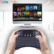 H9 Wireless mini Keyboard Russian English Hebrew Version 2.4GHz Air Mouse Touchpad Handheld for Android TV BOX Mini PC x96 a95x vontar i8 keyboard backlit english russian spanish air mouse 2 4ghz wireless keyboard touchpad handheld for tv box android x96