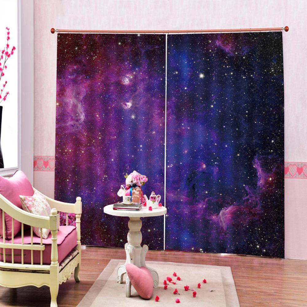 Purple Star Sky Starry Night