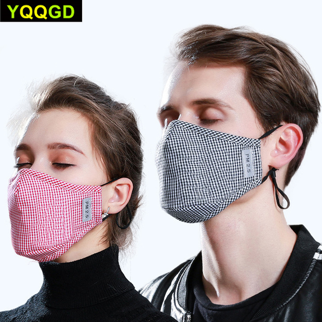 1Pcs Multi Color Cotton PM2.5 Black mouth Mask anti dust mask Activated carbon filter Windproof Mouth-muffle bacteria proof Flu 1