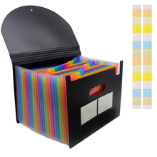 Document-Folder with Lid Expandable for Filing Compartments PPYY-24