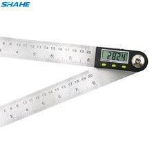 زاوية الرقمية مكتشف حاكم 200 مللي متر الرقمية المنقلة مقياس الزوايا الرقمية 2 in 1 زاوية مقياس مع شفرات من الحديد الصلب