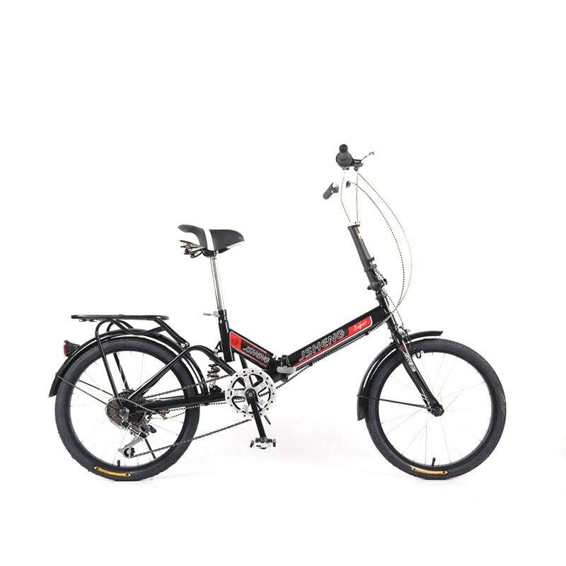 Bicicleta dobrável 20 polegadas fácil dobrável portátil