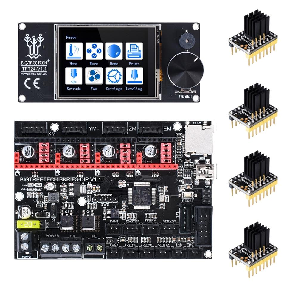 BIGTREETECH SKR E3 DIP V1.1 32Bit Control Board+TMC2208 TMC2130+TFT24 For Ender 3 Pro/5 VS SKR V1.3 TMC2209 3D Printer Parts