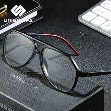 Açık erkekler için optik gözlükler çerçeve şeffaf miyopi derece gözlük çerçevesi TR90 reçete gözlük çerçevesi Pilot gözlük