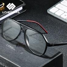 Klar Optische Gläser für Männer Rahmen Transparent Myopie Grad Brillen Rahmen TR90 Rezept Brillen Rahmen Pilot Brille