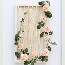 Backdrop Eucalyptus Garland Artificial-Vines Greenery Wedding Arch-Wall-Decor Rose-Flower