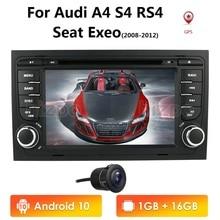 Автомагнитола IPS DSP для Audi A4, S4, RS4, 8E, 8F, B9, B7, B6, 2 ГБ, 16 ГБ, 4 ядра, 2din, Android 10, автомагнитола без DVD, мультимедийный плеер, стерео, GPS, 4, Wi Fi, obd2