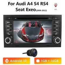 Radio multimedia con GPS para coche, radio con reproductor, pantalla IPS, DSP, estéreo, 4, wifi, obd2, para Audi A4, S4, RS4, 8E, 8F, B9, B7, B6, 2G, 16G, 4 core, 2Din, Android 10