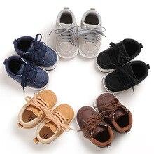 Детские кроссовки для малыша, Мокасины, для детей от 0 до 18 месяцев, с высоким верхом, искусственная кожа, для младенцев, первые шаги, мягкая подошва, обувь для мальчиков и девочек, обувь для новорожденных, детская кроватка