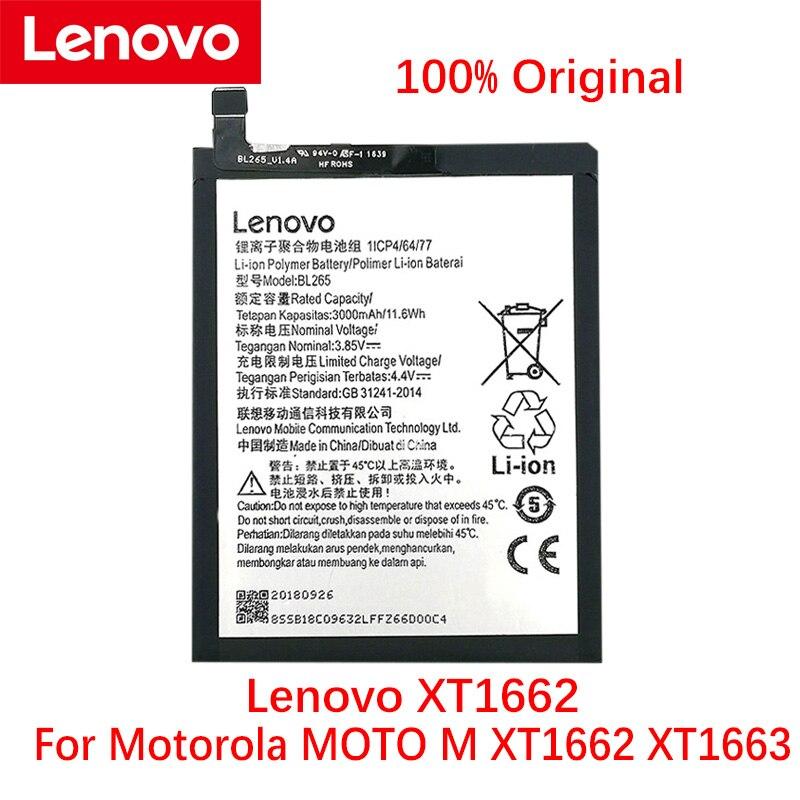 オリジナル3000mah BL265レノボXT1662モトm XT1662 XT1663電話、高品質new + 追跡番号