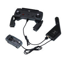 2 in1 Battery Car Charger with USB Port Remote Control Charge For dji spark Drone Accessories
