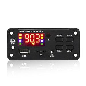 Image 1 - 5V 12V MP3 modülü WMA MP3 dekoder kurulu büyük renkli ekran 12V kablosuz Bluetooth 5.0 ses modülü USB TF radyo araba için kayıt