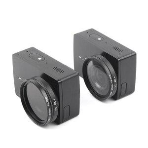 Image 4 - UV CPL Lens filtre + koruyucu alüminyum çerçeve kılıf + Lens kapağı için Xiaomi Yi 4K Lite eylem kamera Lens aksesuarları yüksek kalite