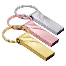 Portachiavi in metallo Pendrive usb Flash Drive 2.0 4gb 8gb 16gb 32gb 64gb di Memoria Stick Pendriver memory Stick U Disk Personalizza Logo