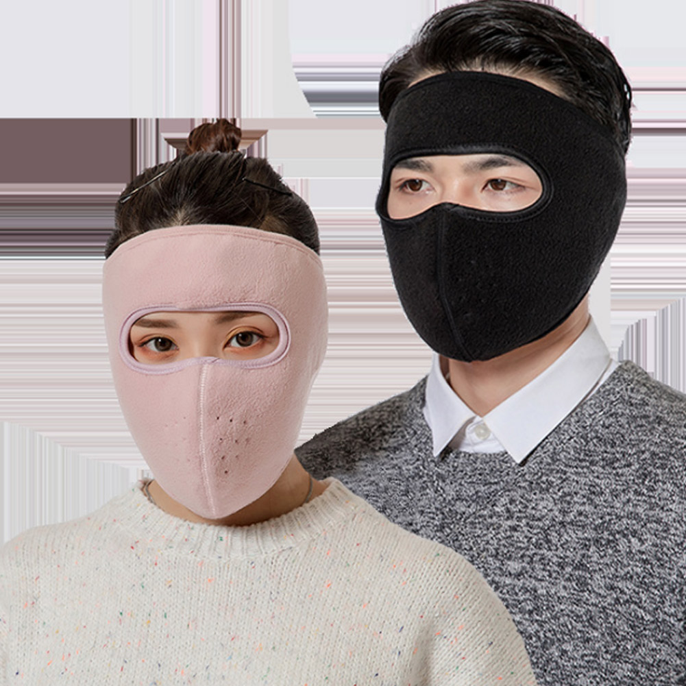 Windproof Plush Mask For Women Men Keep Warming Breathable Masks Winter Sports Riding Cycling Running -OPK
