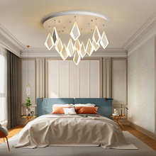 White 48/68/80CM Creative modern LED ceiling lights for living room Bedroom light Acrylic pendant ceiling lamp lamparas de techo free shipping modern led ceiling lights for dining room creative spring acrylic ceiling lamp luminaire lustre lamparas de techo