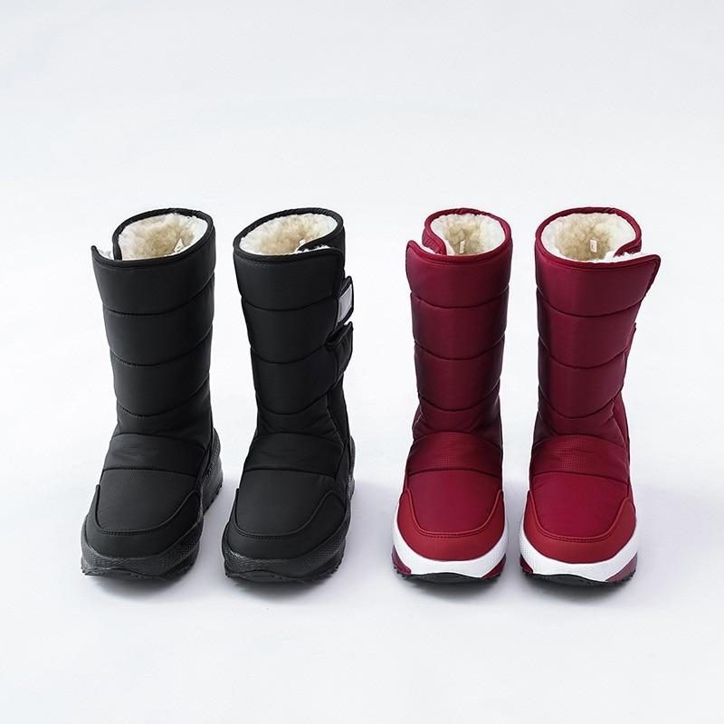 sapatos plataforma senhoras algodão botas de inverno à prova dwaterproof água