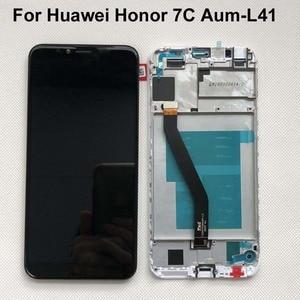 Image 1 - Cadre 2018 nouveau 5.7 pouces pour Huawei Honor 7C Aum L41 écran LCD écran tactile numériseur assemblée livraison gratuite + cadre Original LCD