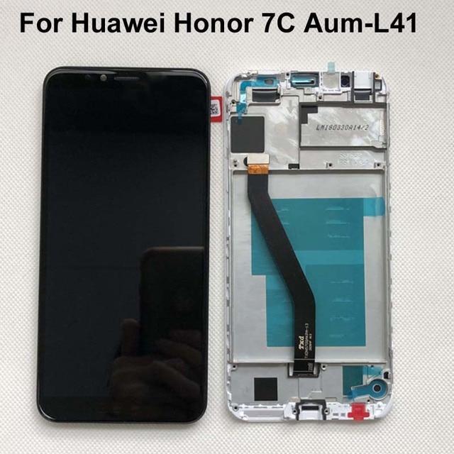 Cadre 2018 nouveau 5.7 pouces pour Huawei Honor 7C Aum L41 écran LCD écran tactile numériseur assemblée livraison gratuite + cadre Original LCD