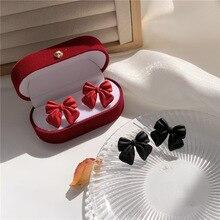 Korean Stud Earrings Little Kawaii Cute Women Wholesale Sweet Solid Bow Knot Fashion Jewelry Girls gift