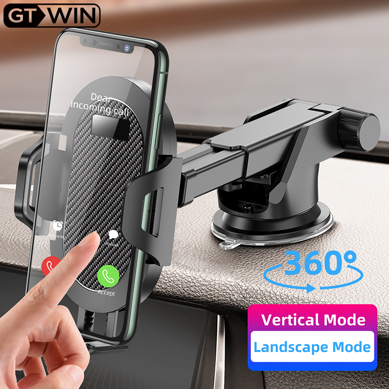 GTWIN Windshield Gravity Sucker Car Phone Holder For Phone Universal Mobile Support For iPhone Smartphone 360 Mount Stand in Car