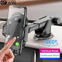 GTWIN pare-brise gravité ventouse voiture Support pour téléphone universel Support Mobile pour iPhone Smartphone 360 Support de montage en voiture