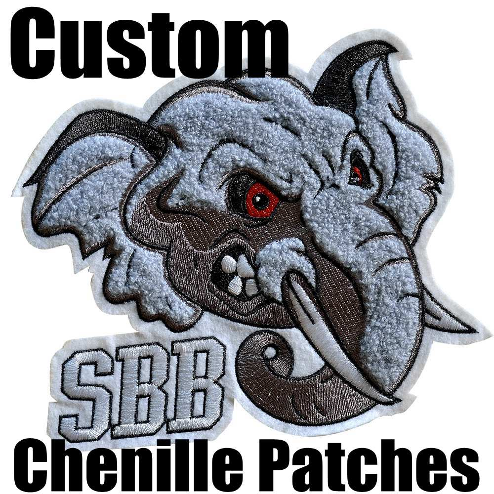 Cheaper Price Custom Chenille Patches Letters Patches For Hoodie Stick-on Backing Name Chenille Patches