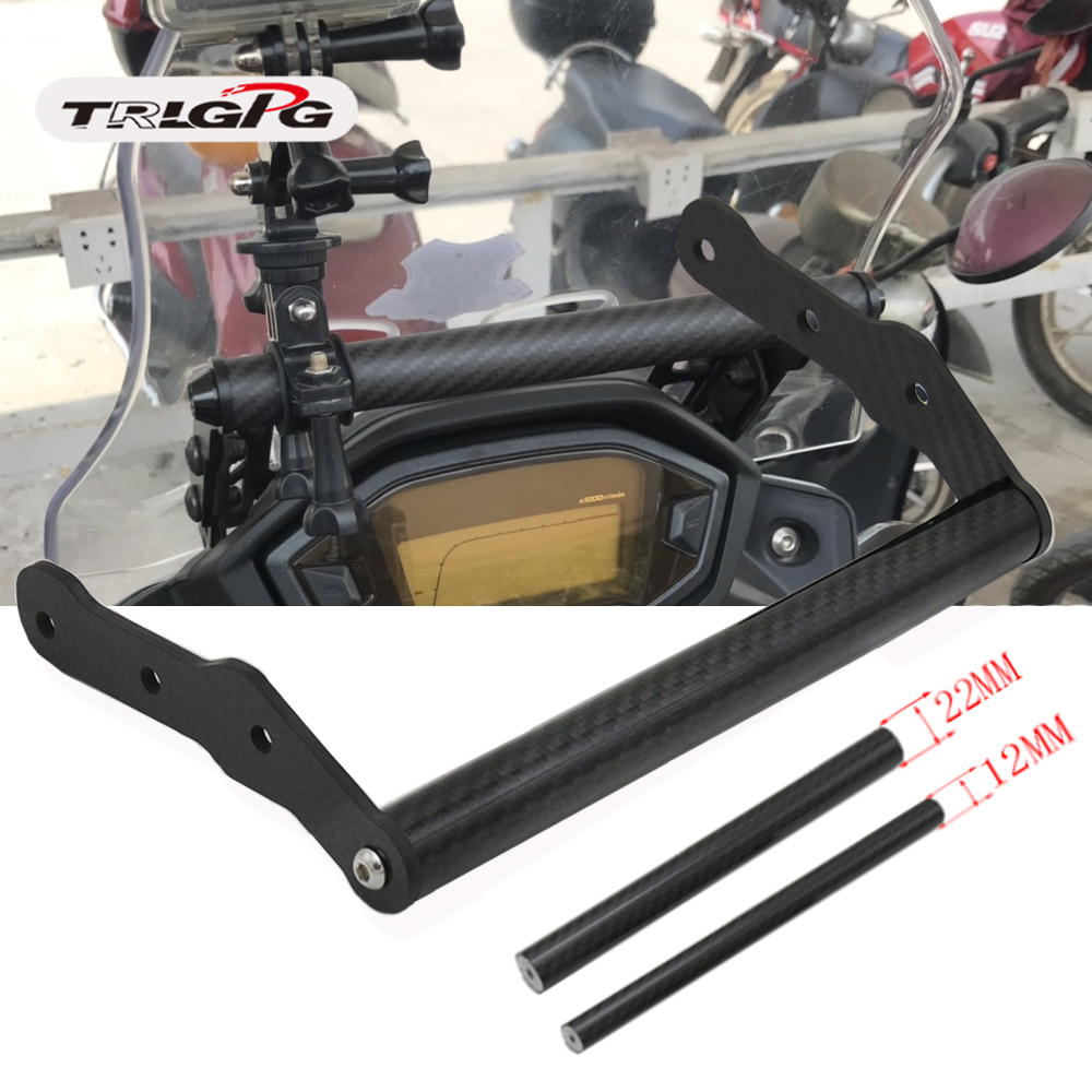 Carbon Bike Modification GPS Phone Navigation Support Bracket With Extended Bar Stick For HONDA <font><b>CB500X</b></font> 2016 2017 <font><b>2018</b></font> 2019 image