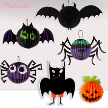 PATIMATE Halloween Decoration Pumpkin Spider Sat Paper Lantern Hanging Accessories