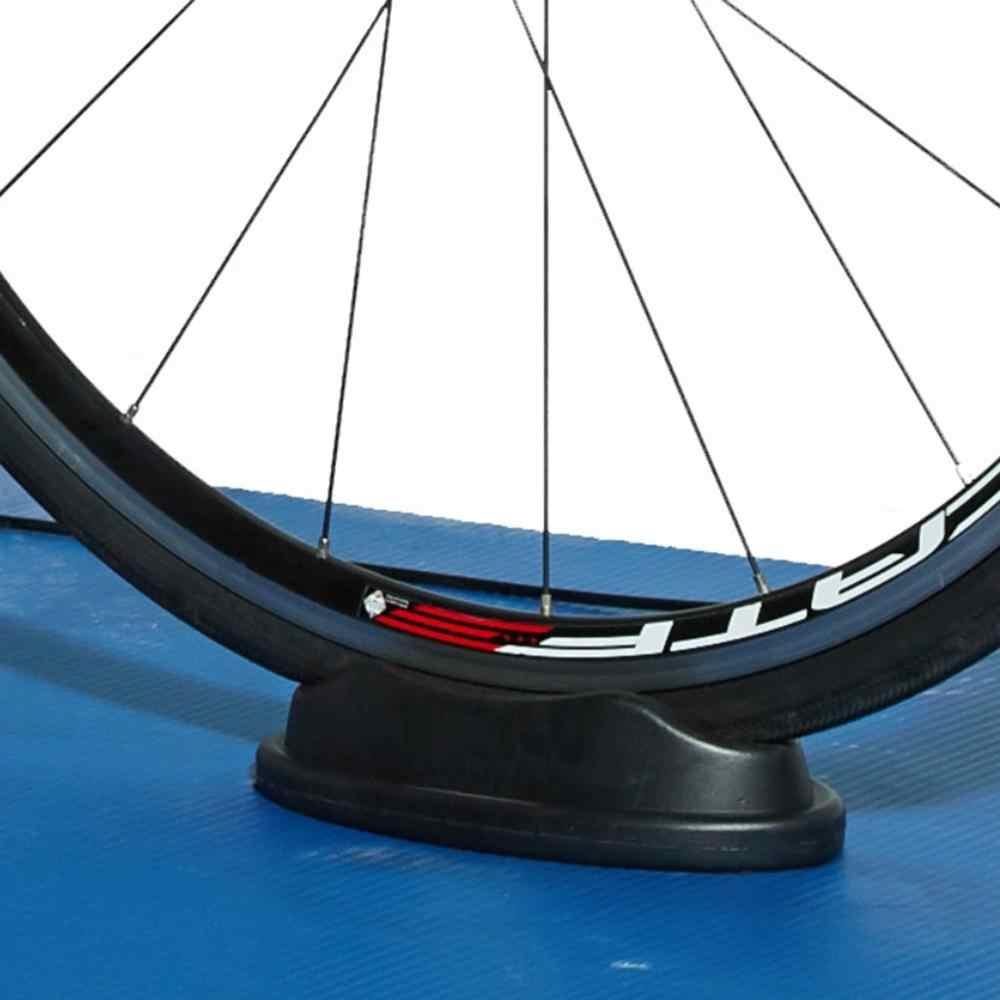 Kapalı bisiklet eğitmenleri yükseltici dağ bisikleti ön tekerlek blok Stabilize destek standı tutucu alt kaymaz ped bisiklet yükseltici