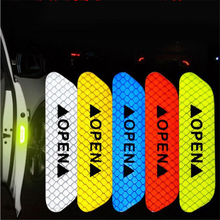 Warning Mark Night Driving Safety Door Stickers for transit vw golf ford s-max ford fiesta 2009 citroen c5 peugeot 307 sw