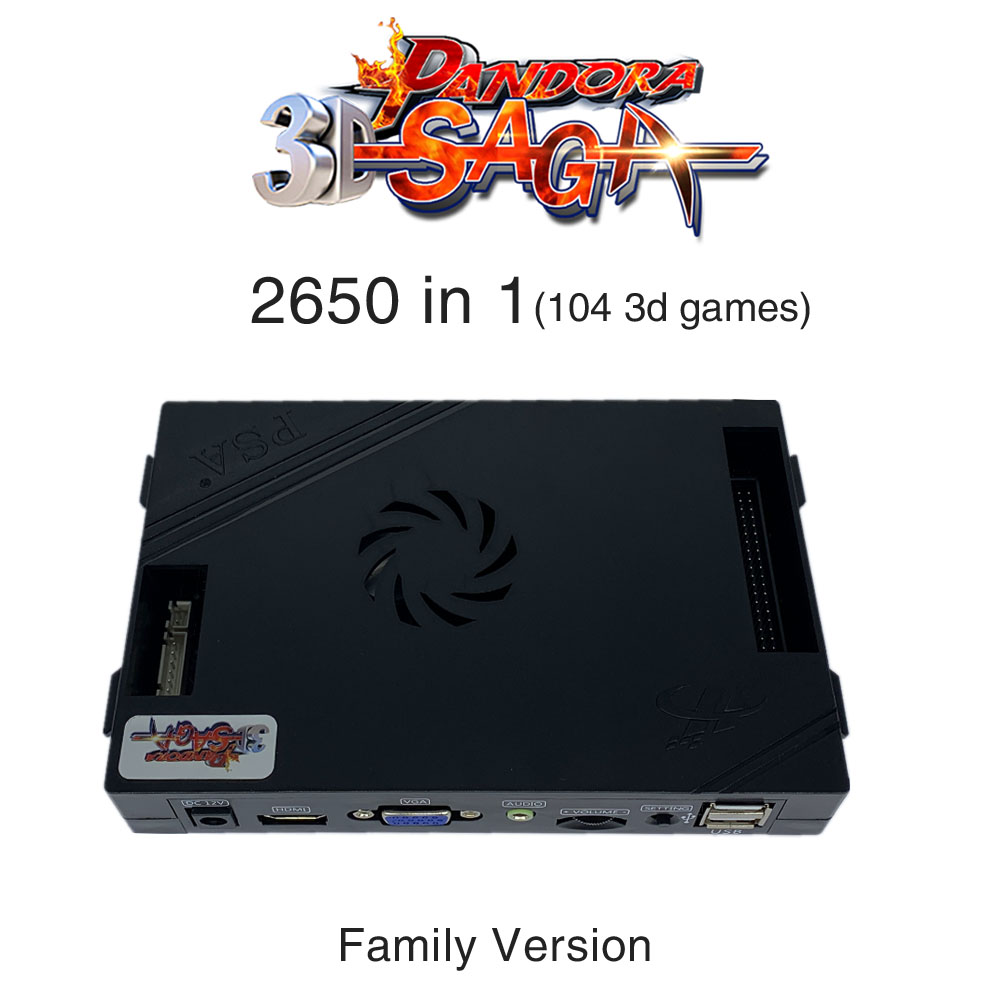 3D Pandora Saga Box 2650 In 1 Family Version Board 40p Arcade PCB For Free Play Coin HD Video Jamma Games HDMI VGA Motherboard
