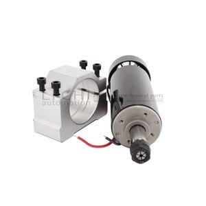 Image 2 - O envio gratuito de 0.5kw ar refrigerado eixo er11 chuck cnc 500w eixo do motor + 52mm braçadeiras fonte alimentação regulador velocidade para diy cnc
