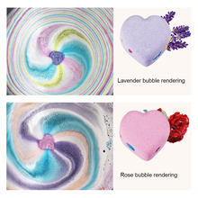 4pcs Handmade Heart Shape Bath Sea Salt ball Natural Bath Bomb Essential Oil Dried Flower Whitening Ease Stress Bubble Shower
