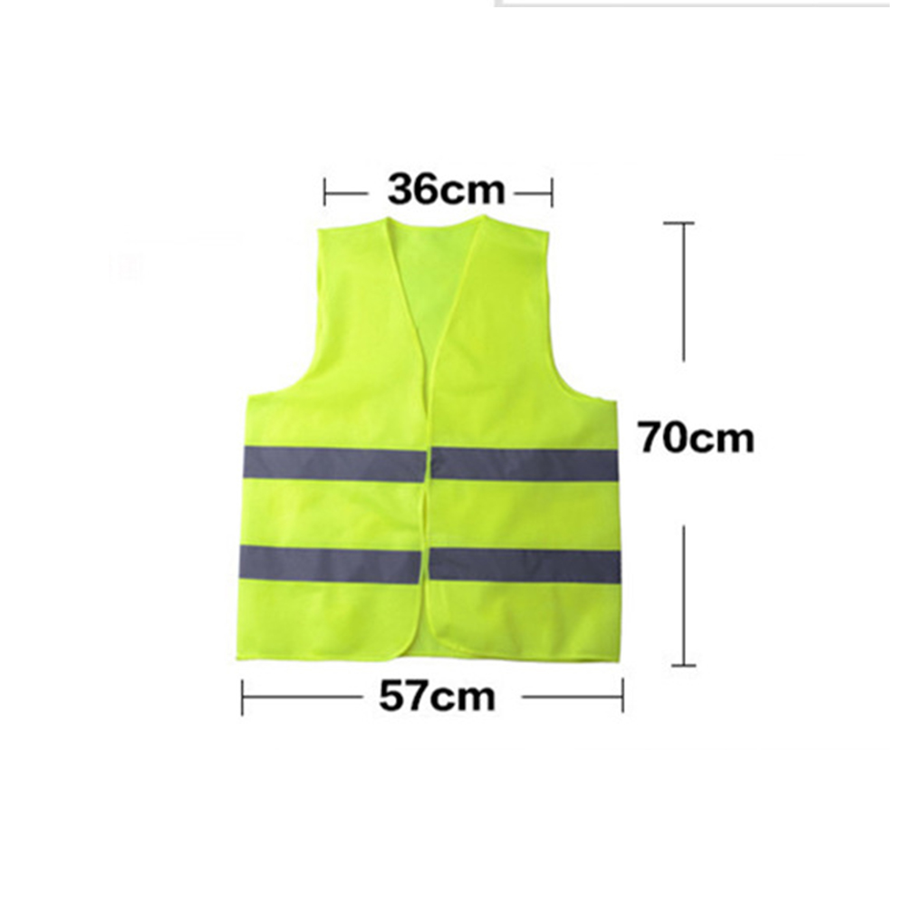 Breathable Safety Security High Visibility Reflective Vest Gear Stripes Vest Night Running Wholesale