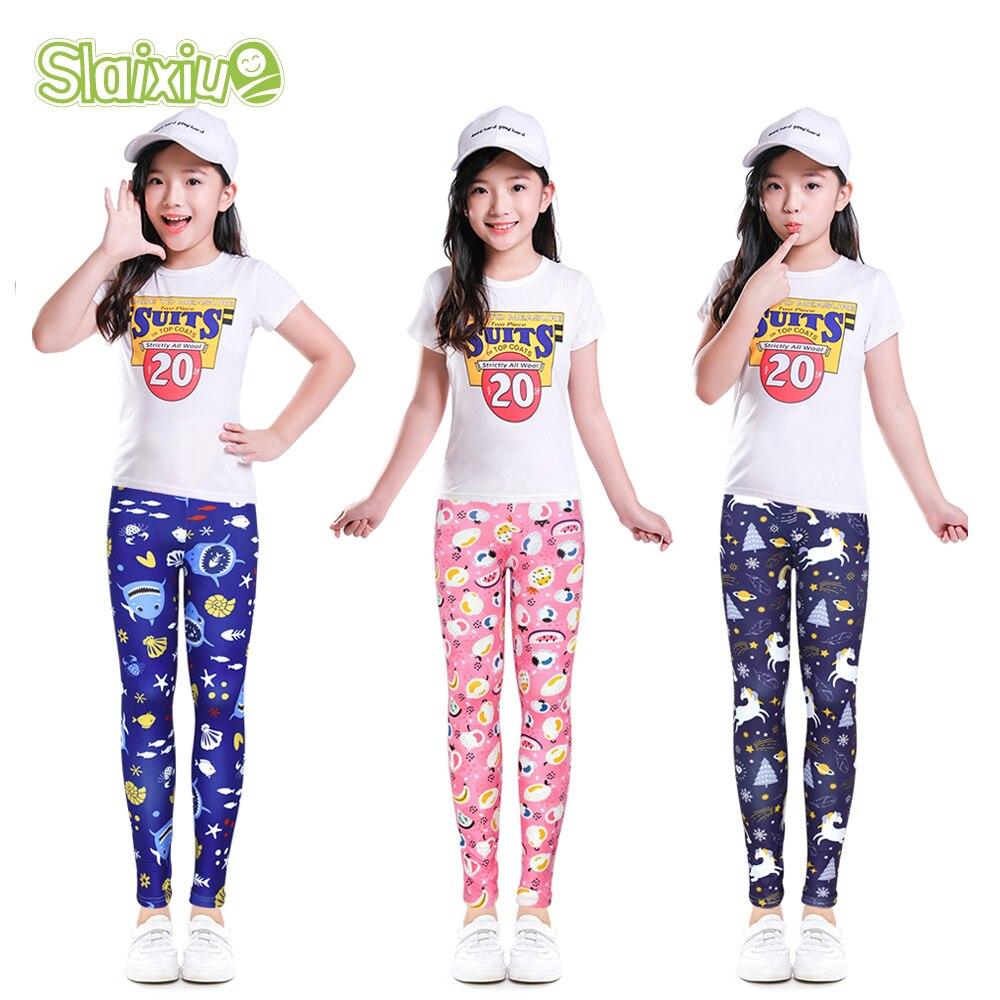 Girls Leggings Kids Skinny Pants For Spring Autumn Kids Leggings Children Pantyhose Flower Printed Pencil Pants For 4-13 Years